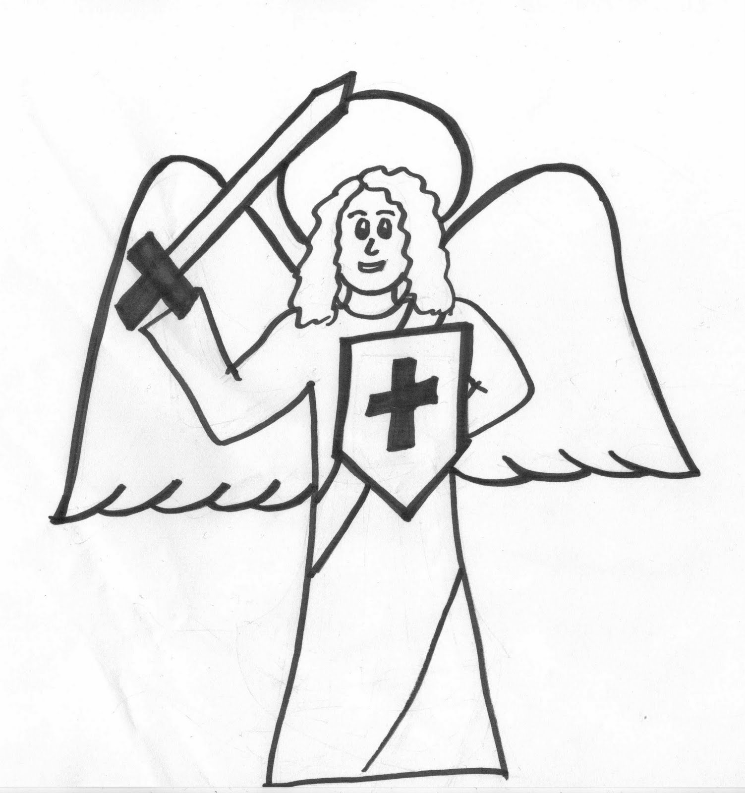 Children music for the soul for Archangel michael coloring page